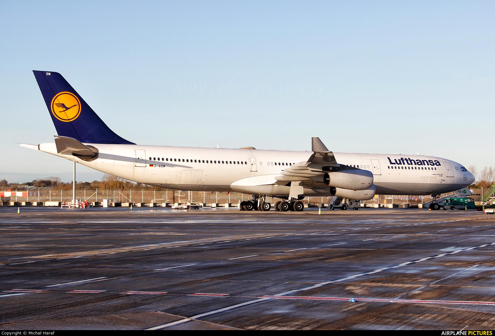 Lufthansa D-AIGM aircraft at Dublin