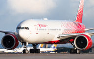 Rare visit of Rossiya Boeing 777 to Madrid, carrying medical supplies title=