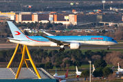 Rare visit of Neos Boeing 787 to Madrid title=