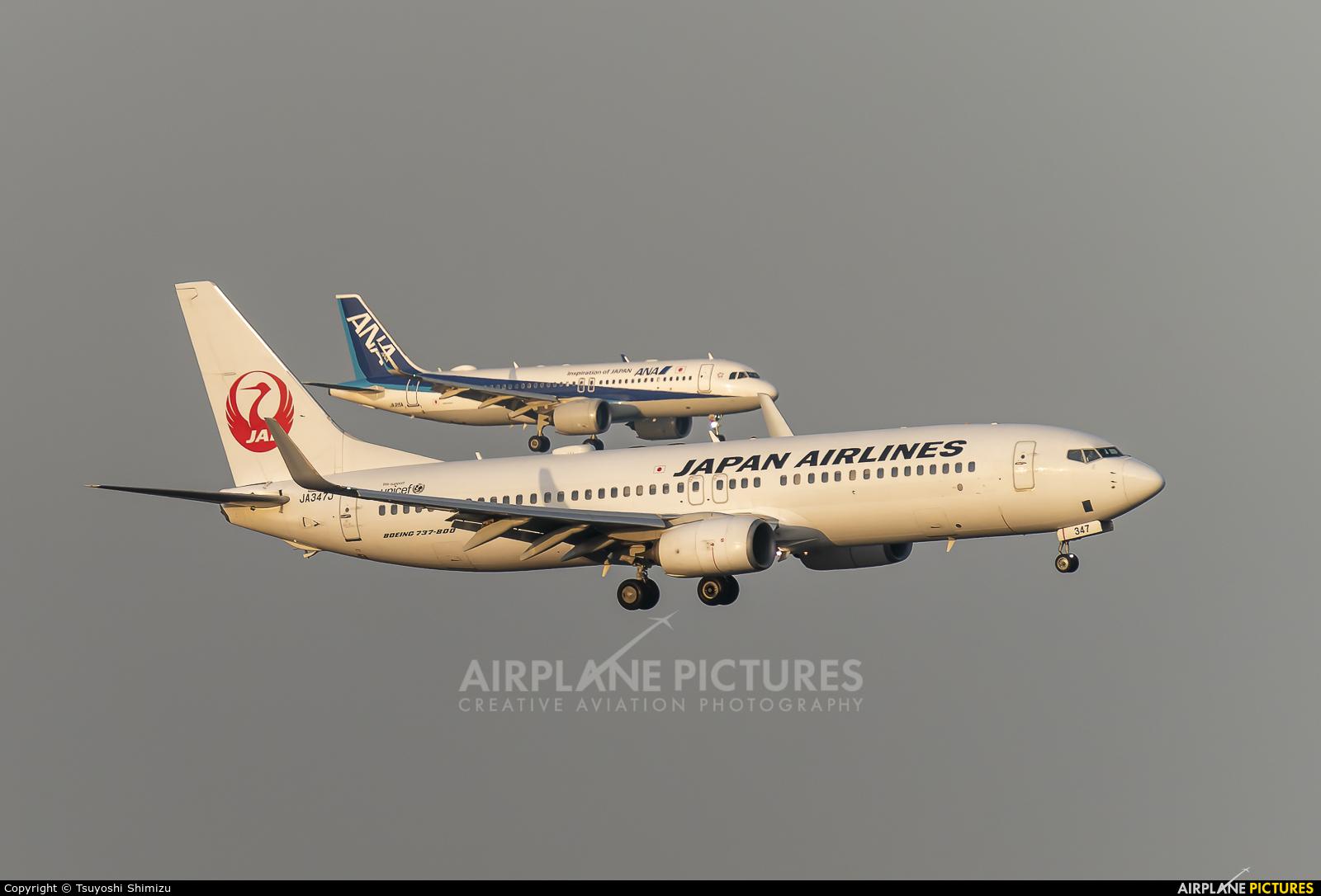 JAL - Japan Airlines JA347J aircraft at Tokyo - Haneda Intl