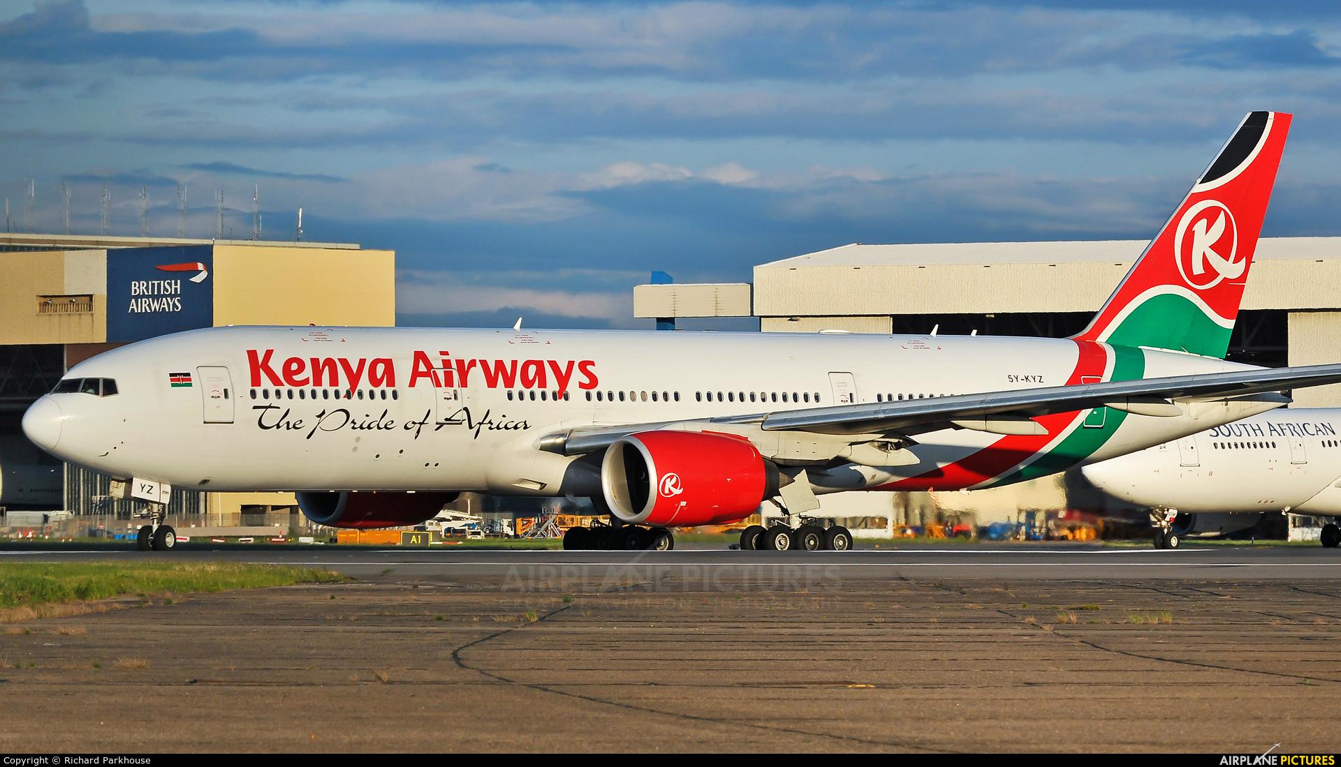 Kenya Airways 5Y-KYZ aircraft at London - Heathrow