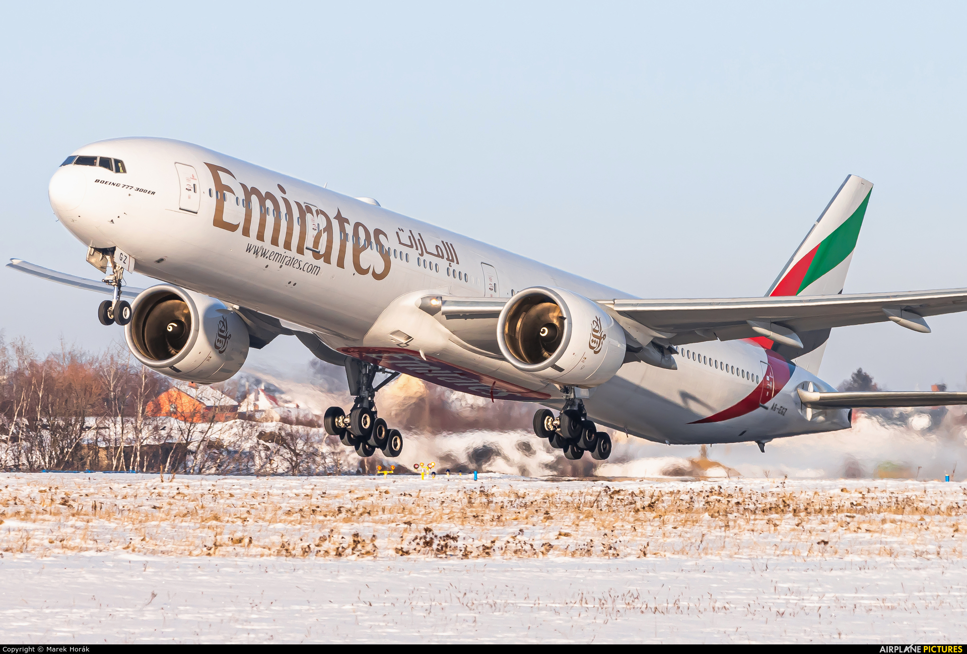 Emirates Airlines A6-EGZ aircraft at Prague - Václav Havel