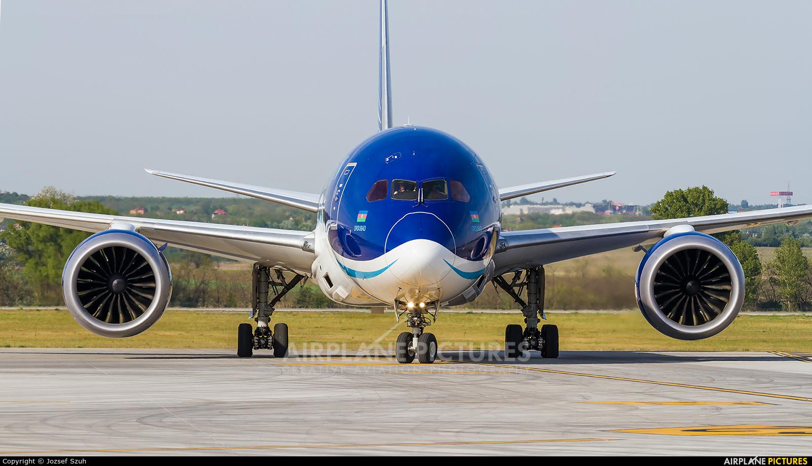 Azerbaijan Airlines VP-BBS aircraft at Budapest Ferenc Liszt International Airport