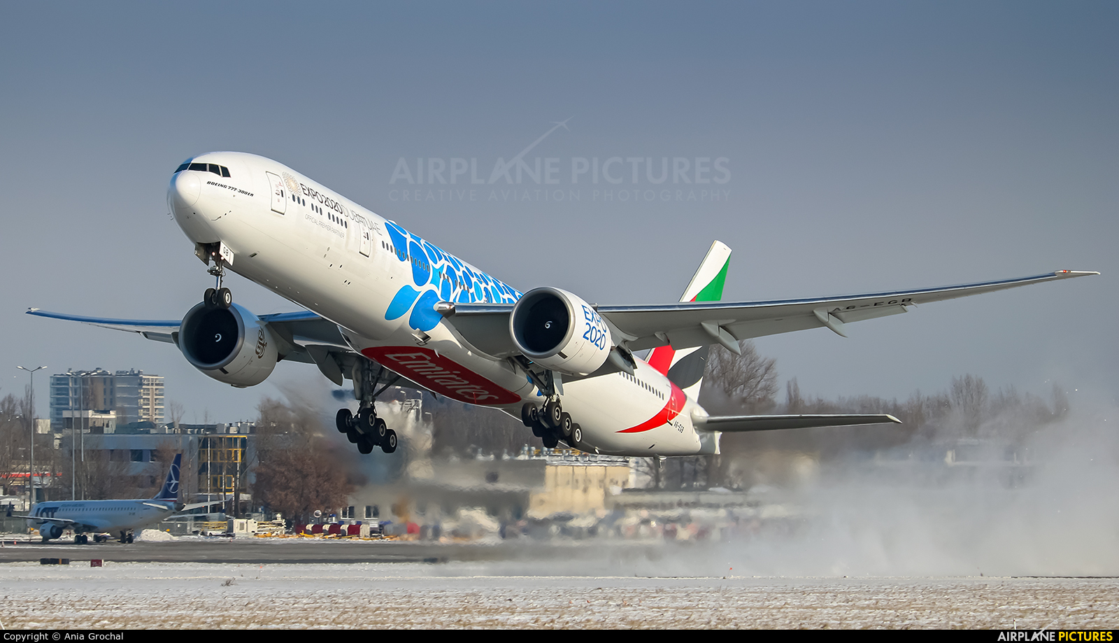 Emirates Airlines A6-EGB aircraft at Warsaw - Frederic Chopin