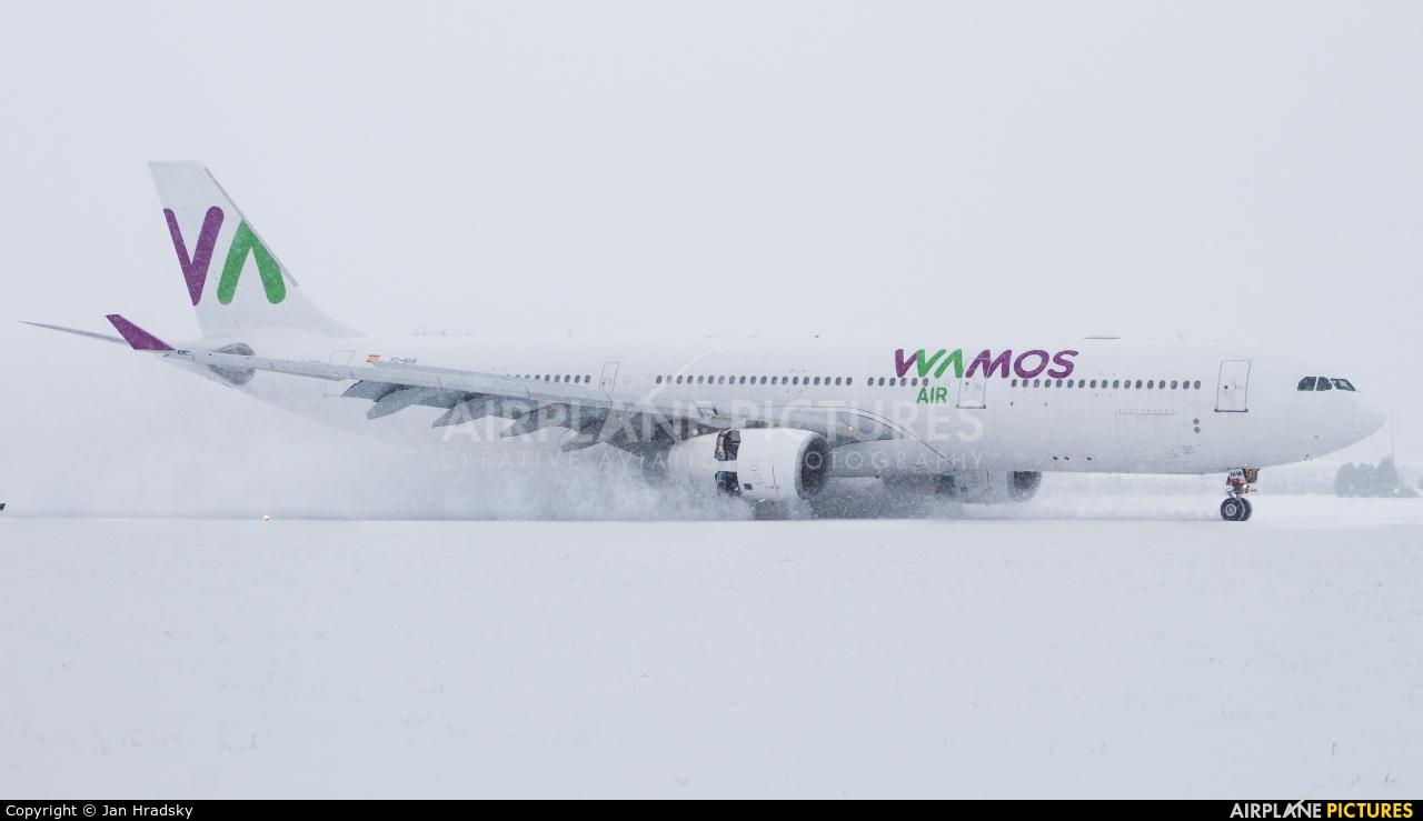 Wamos Air EC-NHM aircraft at Ostrava Mošnov