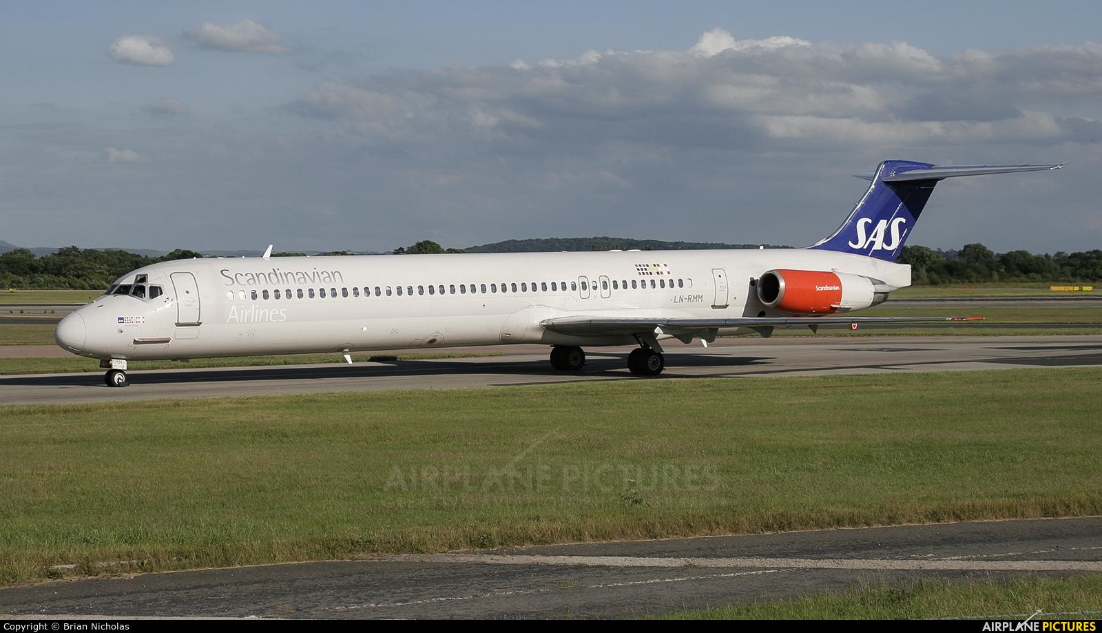 SAS - Scandinavian Airlines LN-RMM aircraft at Manchester