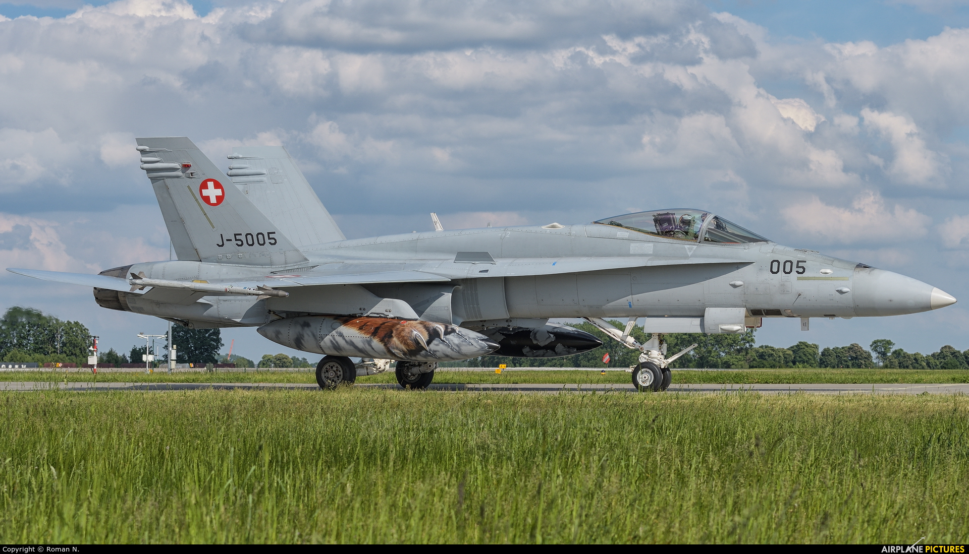 Switzerland - Air Force J-5005 aircraft at Poznań - Krzesiny