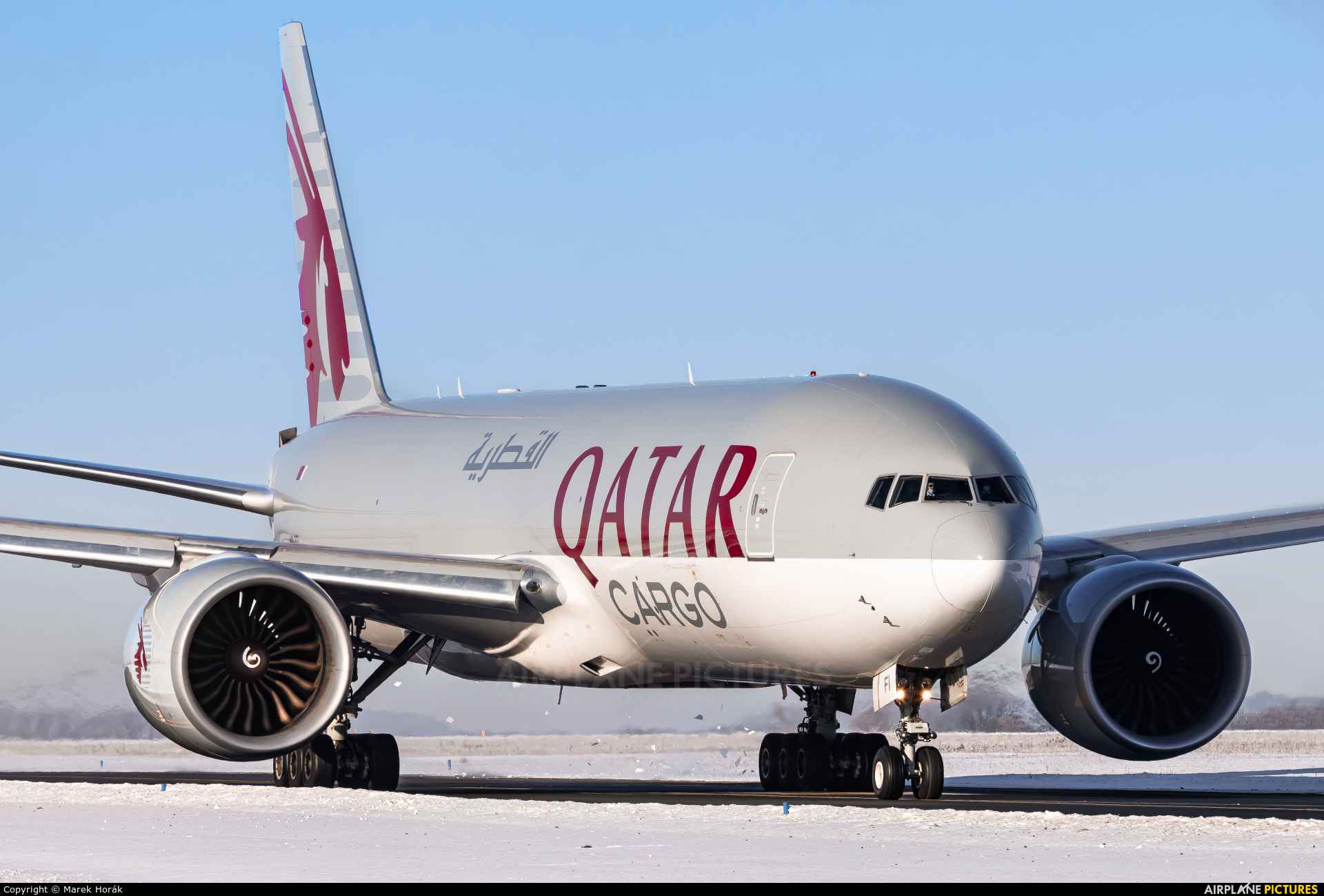 Qatar Airways Cargo A7-BFI aircraft at Prague - Václav Havel