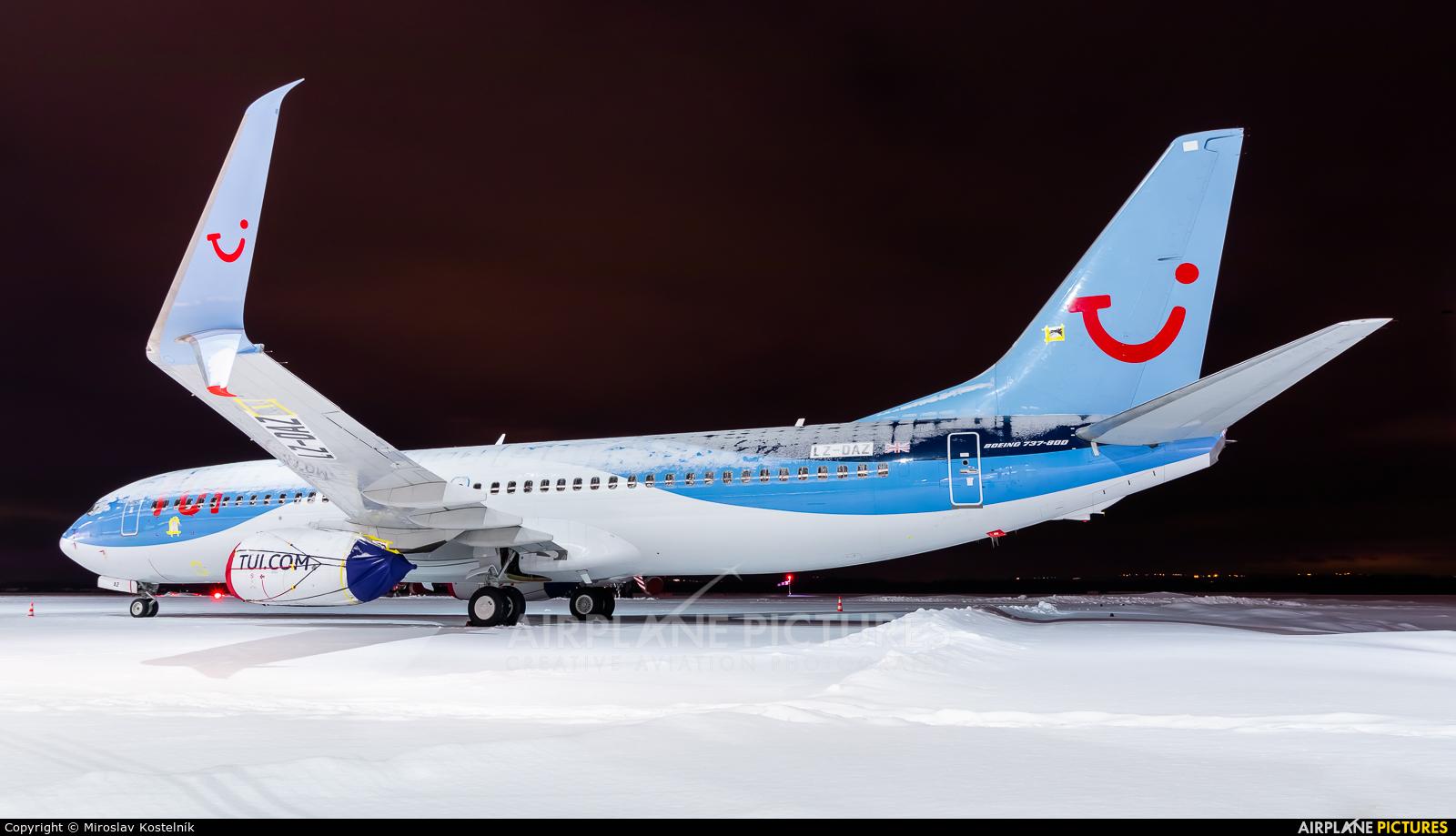 TUI Airways LZ-DAZ aircraft at Ostrava Mošnov