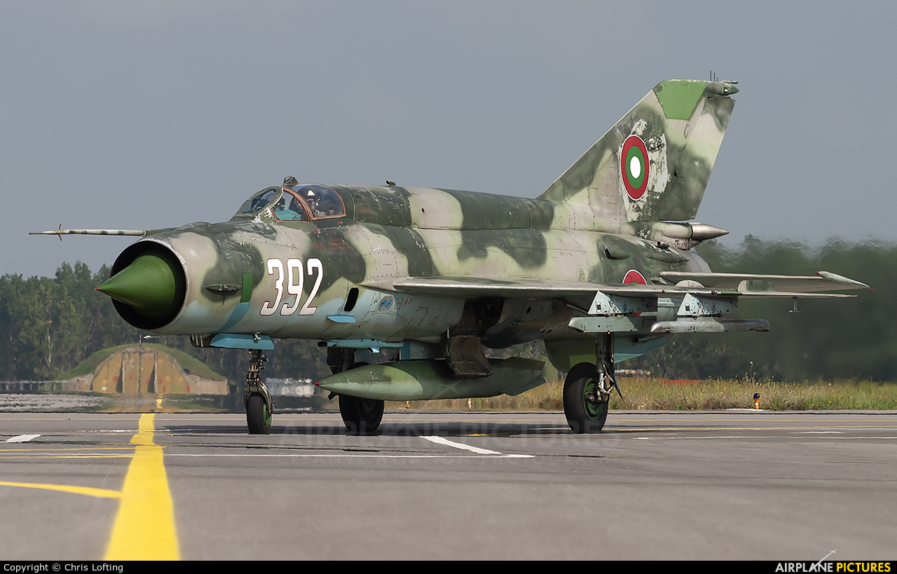 Bulgaria - Air Force 392 aircraft at Graf Ignatievo
