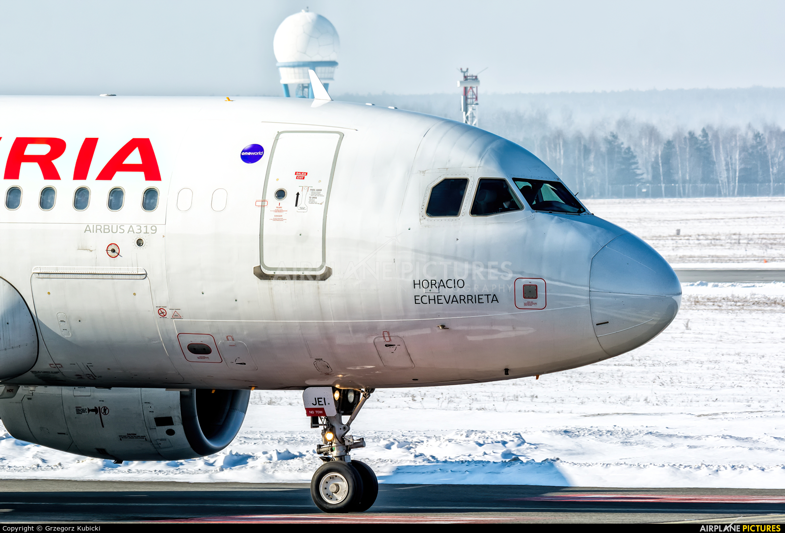 Iberia EC-JEI aircraft at Katowice - Pyrzowice