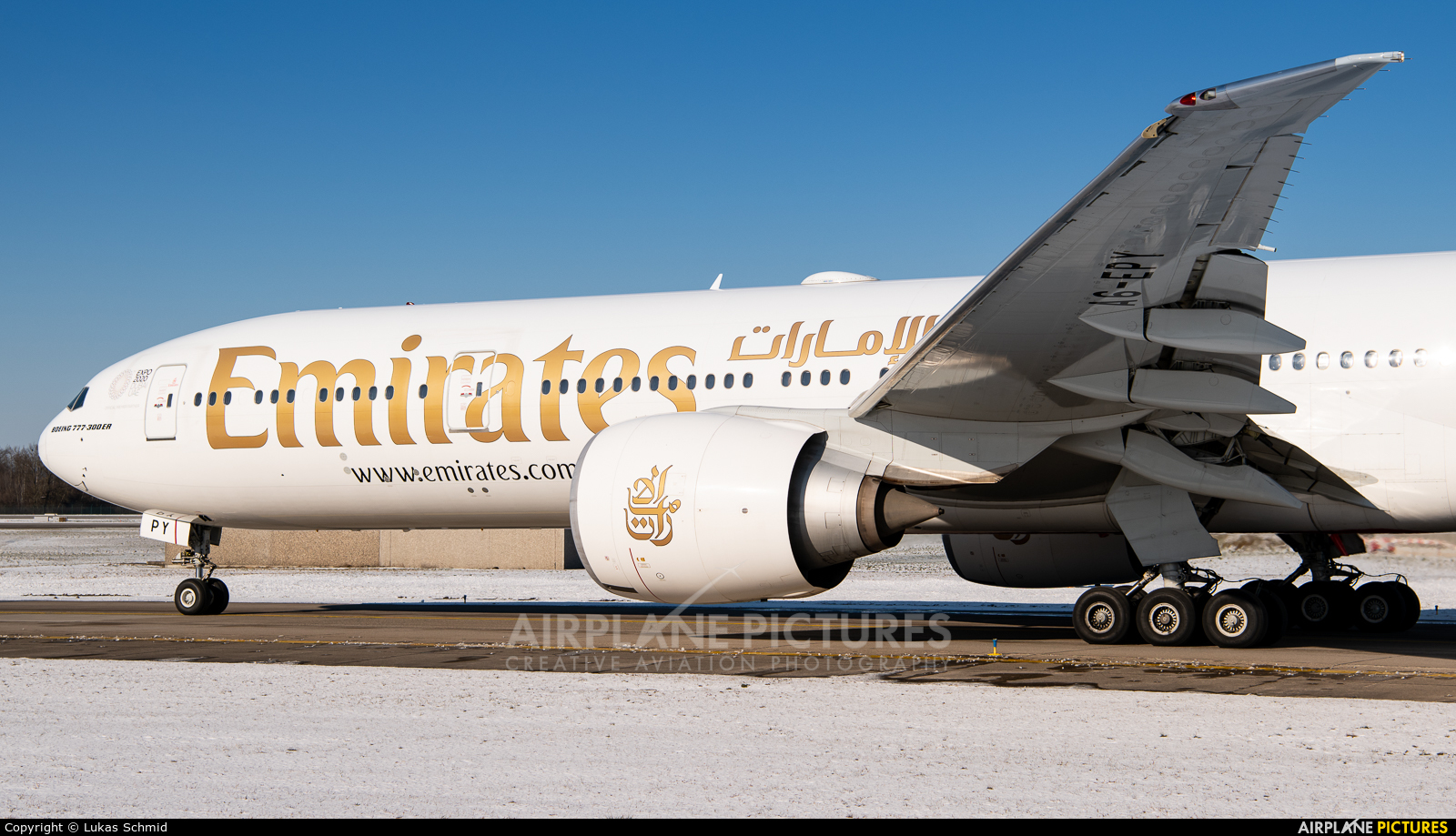 Emirates Airlines A6-EPY aircraft at Zurich