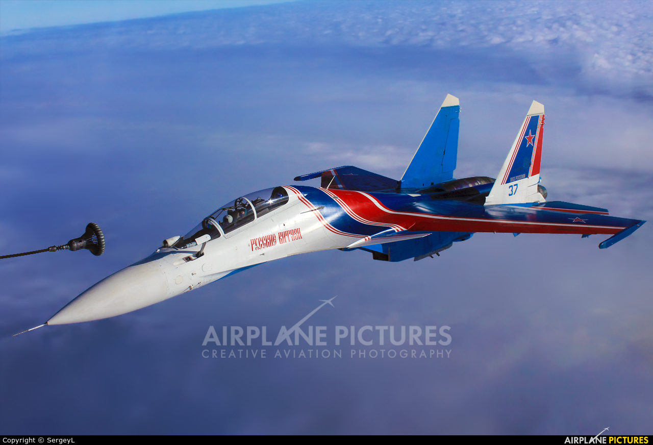 """Russia - Air Force """"Russian Knights"""" 37 BLUE aircraft at In Flight - Russia"""