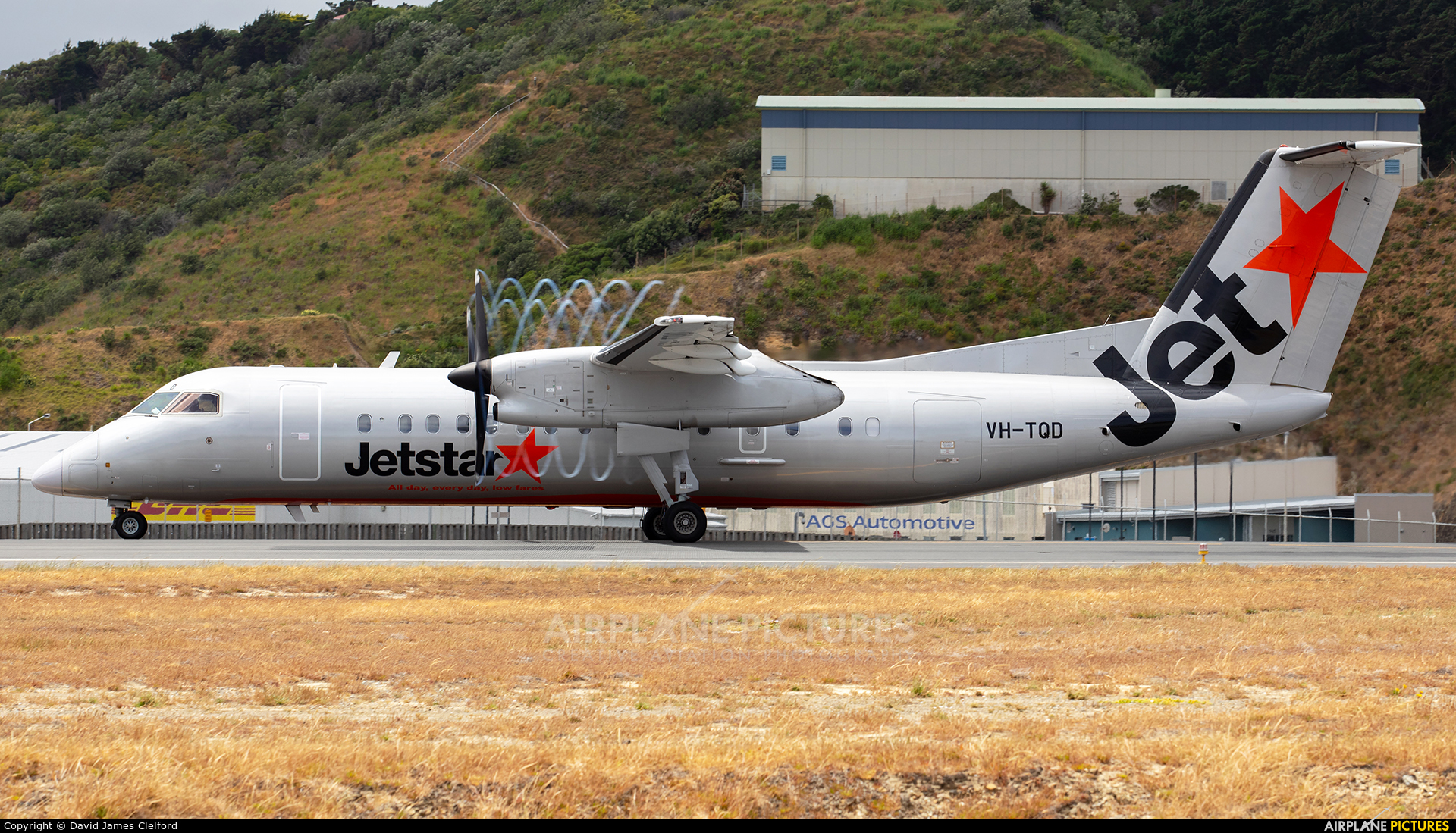Jetstar Airways VH-TQD aircraft at Wellington Intl