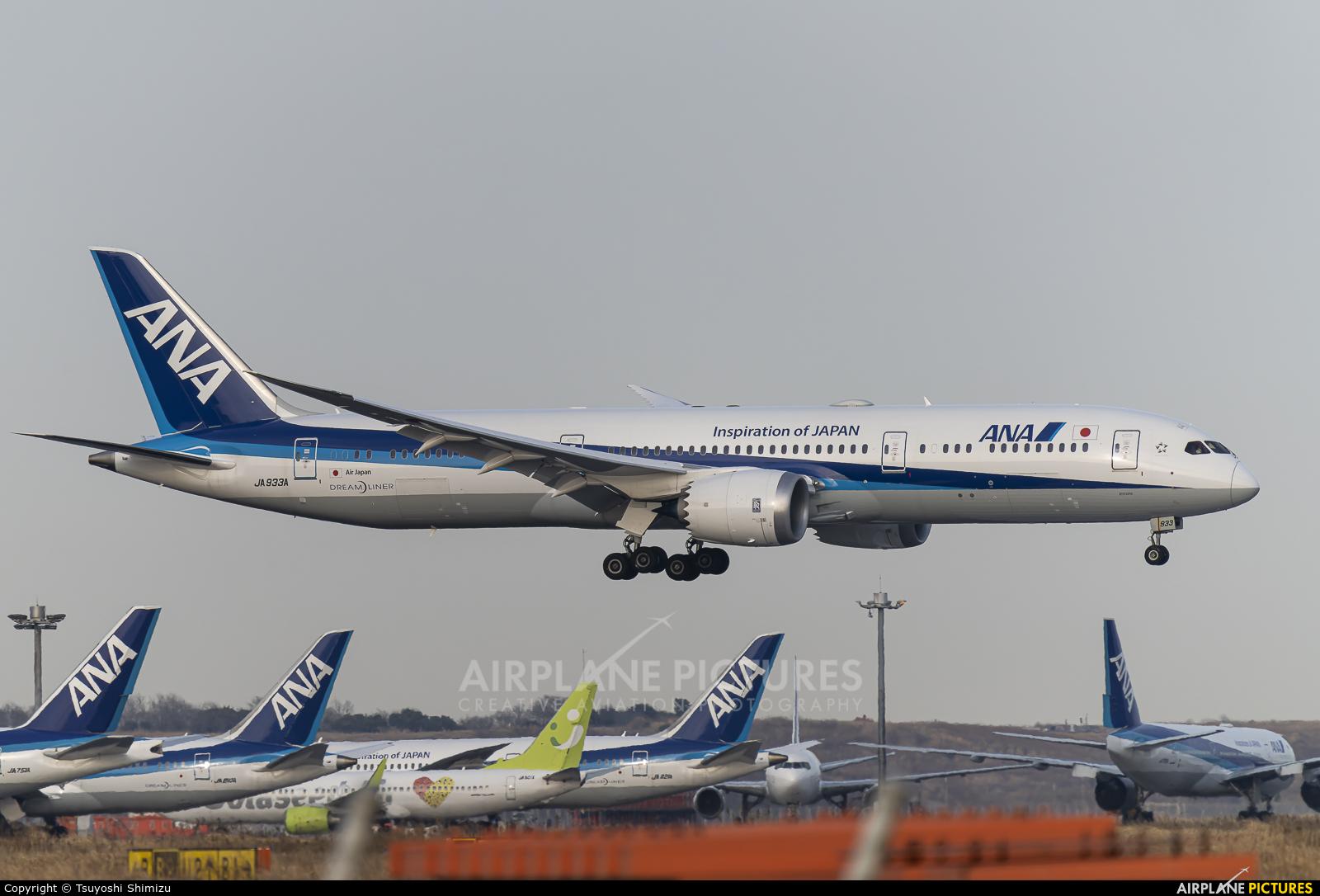 ANA - All Nippon Airways JA933A aircraft at Tokyo - Haneda Intl