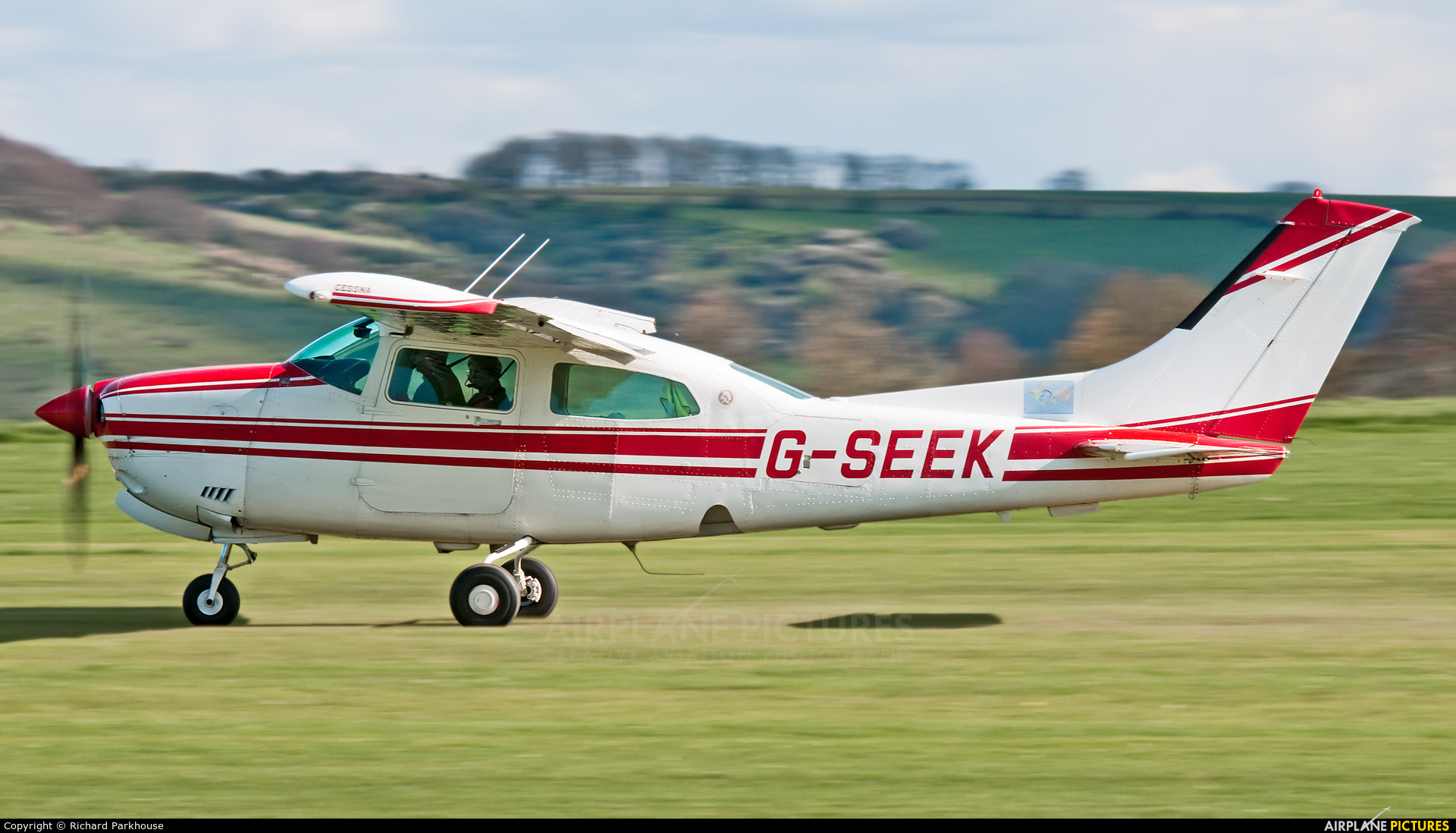Private G-SEEK aircraft at Old Sarum
