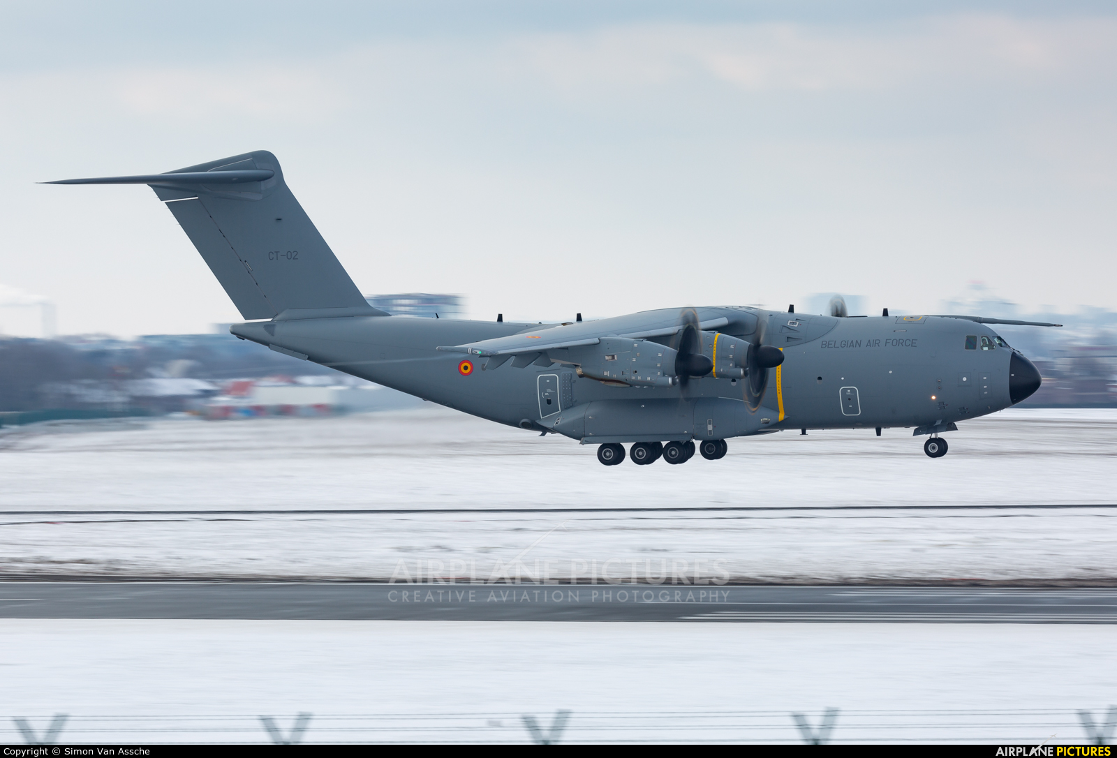 Belgium - Air Force CT-02 aircraft at Brussels - Zaventem