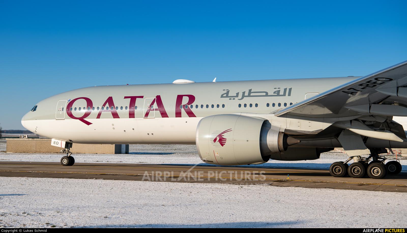Qatar Airways A7-BEO aircraft at Zurich