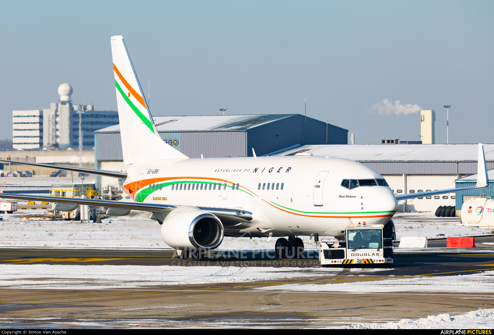 Niger - Government 5U-GRN aircraft at Brussels - Zaventem