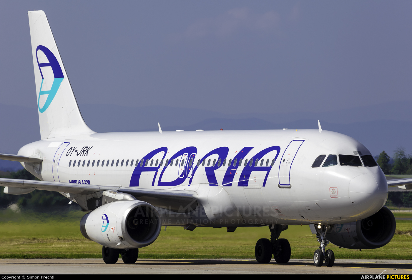 Adria Airways OY-JRK aircraft at Graz
