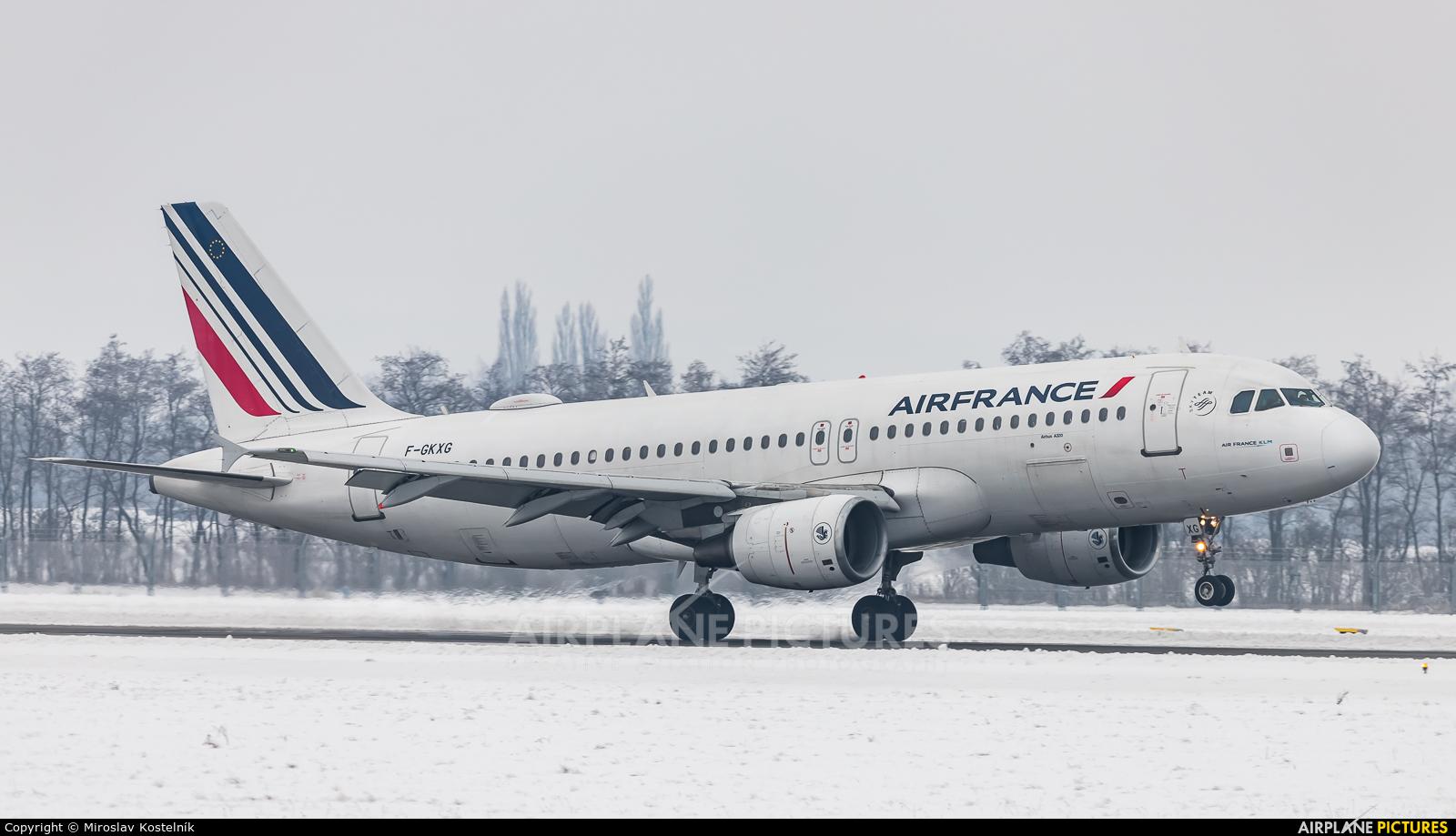 Air France F-GKXG aircraft at Ostrava Mošnov