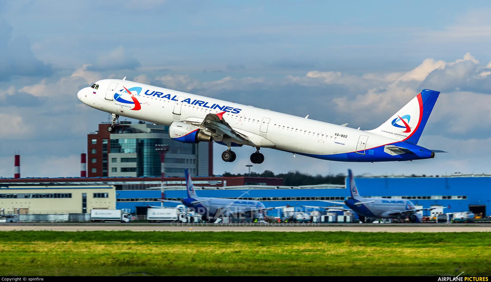 Ural Airlines VQ-BOZ aircraft at Moscow - Domodedovo
