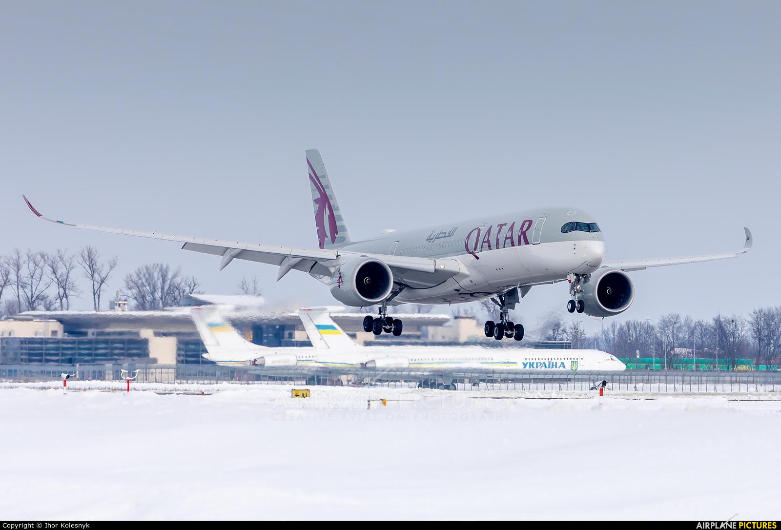 Qatar Airways A7-ALS aircraft at Kyiv - Borispol