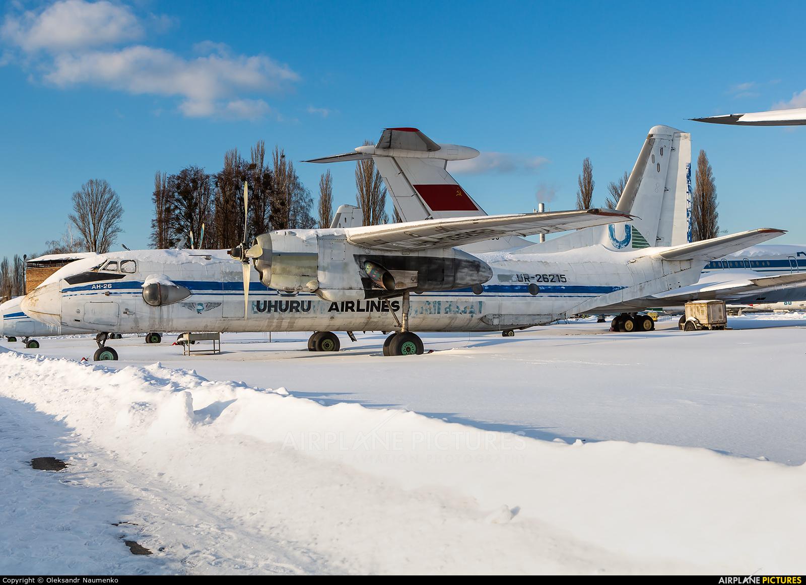 UR-26215 aircraft at Kyiv - Zhulyany State Aviation Museum