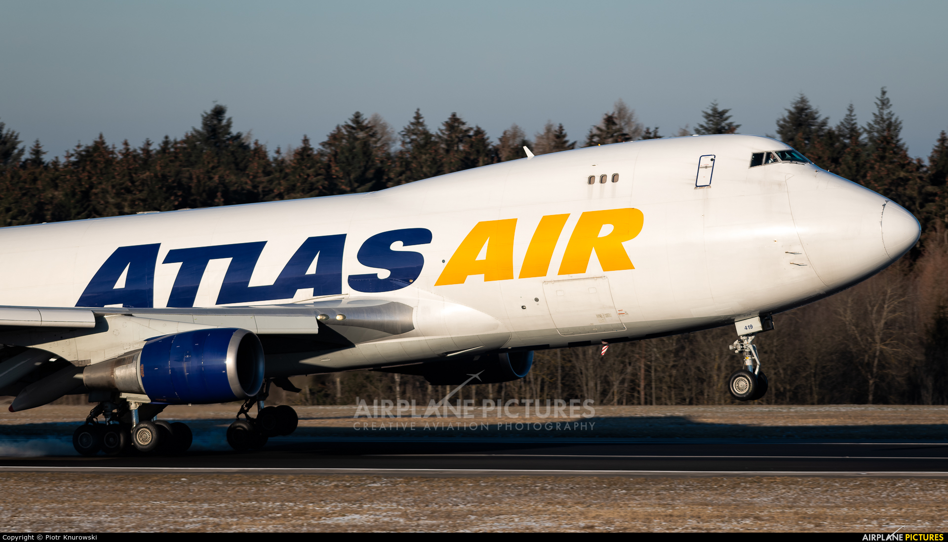 Atlas Air N419MC aircraft at Frankfurt - Hahn