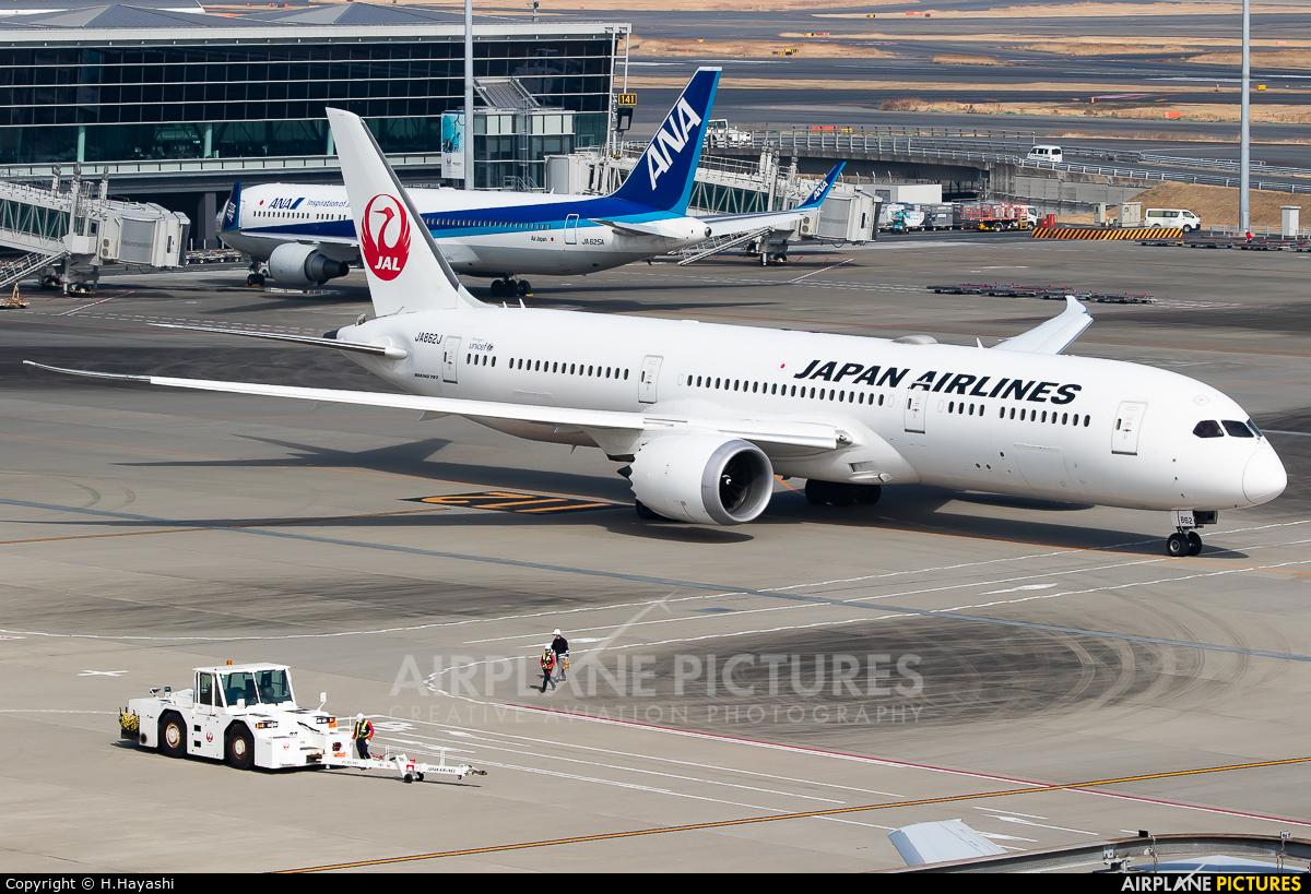 JAL - Japan Airlines JA862J aircraft at Tokyo - Haneda Intl
