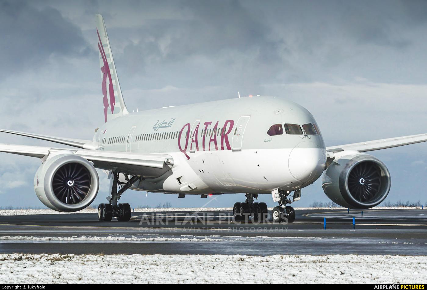 Qatar Airways A7-BCQ aircraft at Prague - Václav Havel