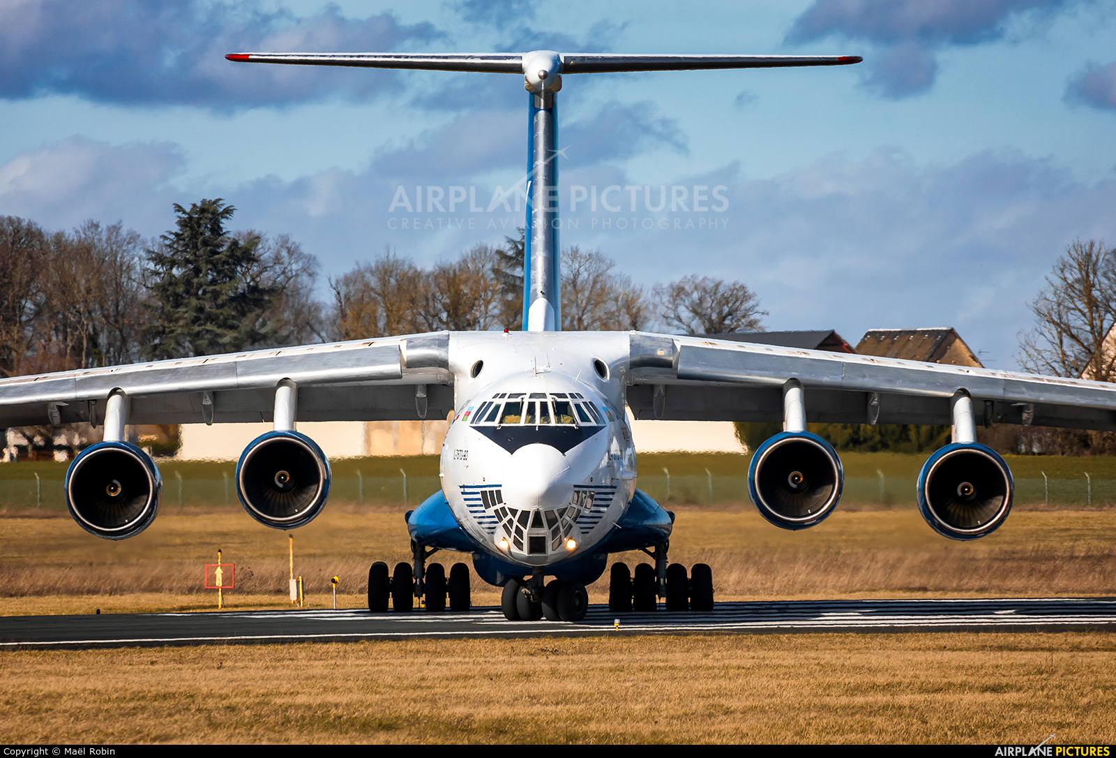 Silk Way Airlines 4K-AZ100 aircraft at Chateauroux - Deols (Marcel Dassault)