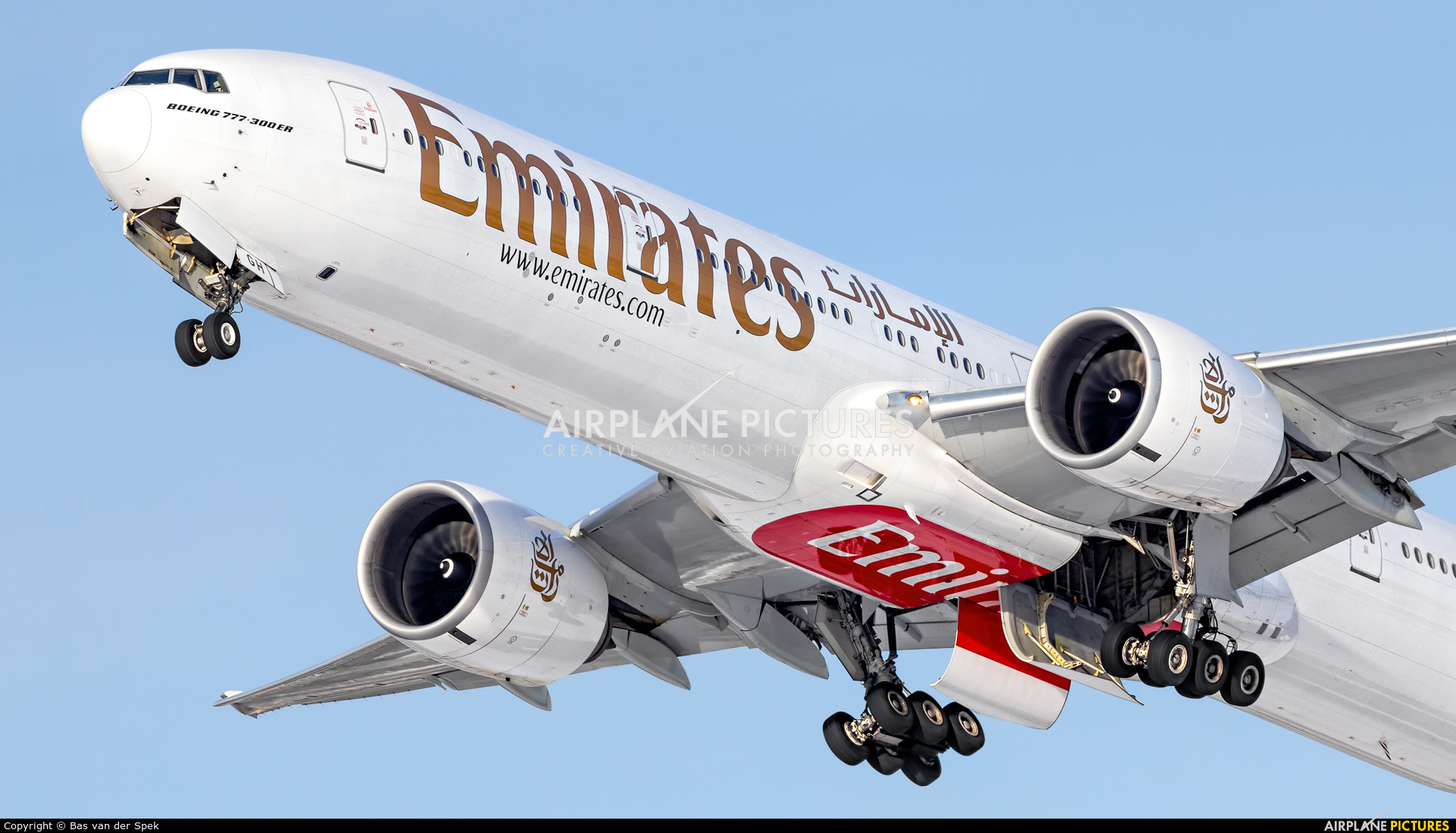 Emirates Airlines A6-EGH aircraft at Amsterdam - Schiphol