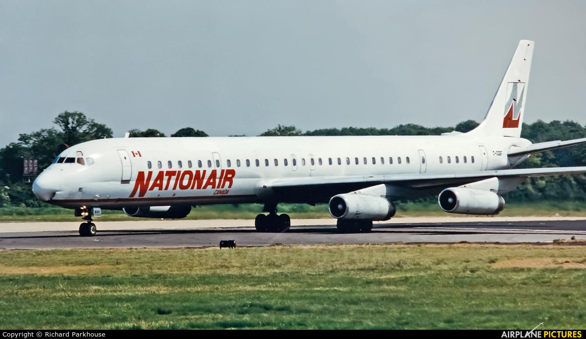 Nationair C-GQBF aircraft at London - Gatwick