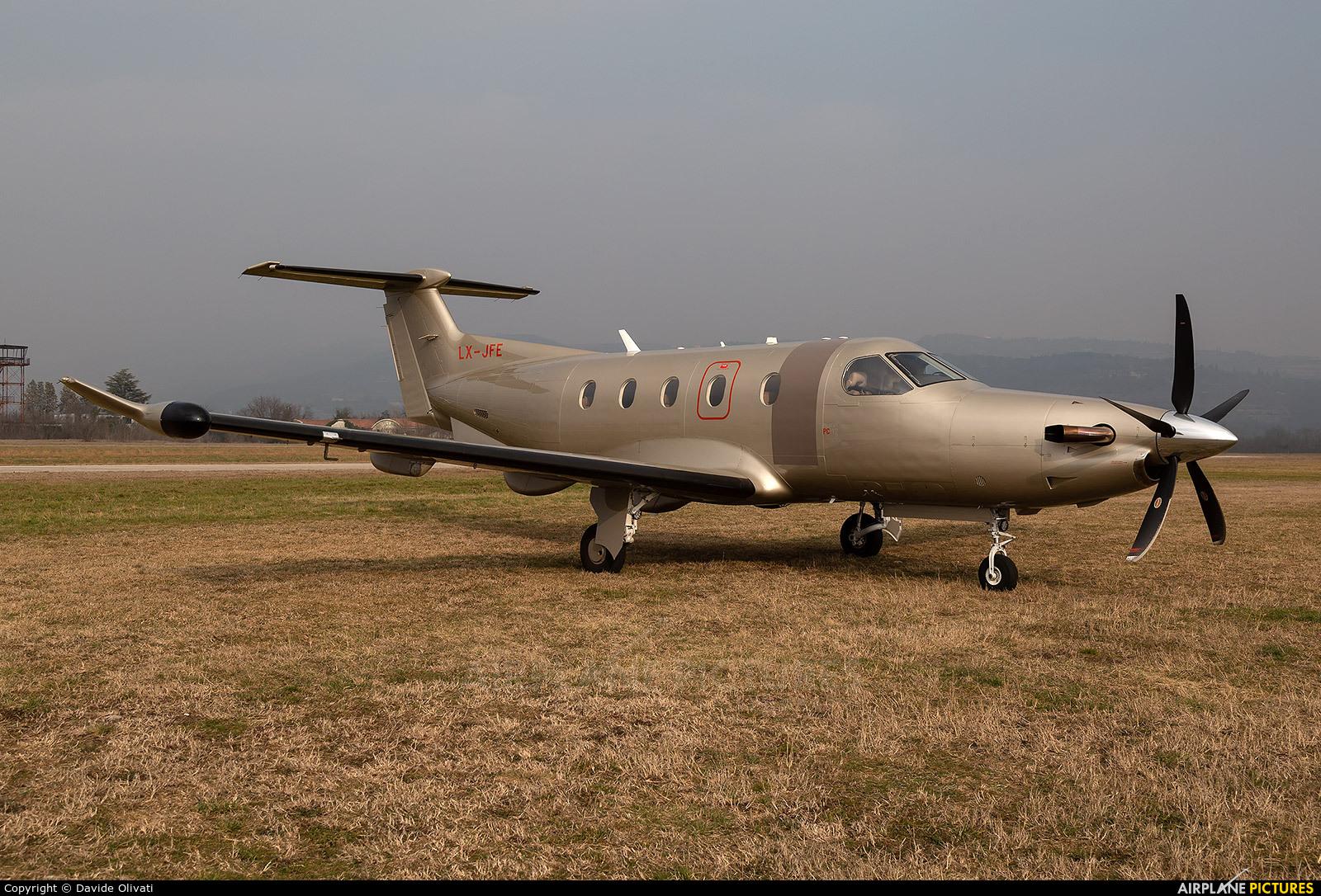 Jetfly Aviation LX-JFE aircraft at Verona - Boscomantico