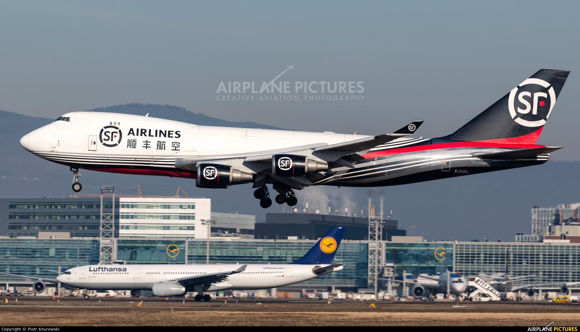 SF Airlines B-2422 aircraft at Frankfurt
