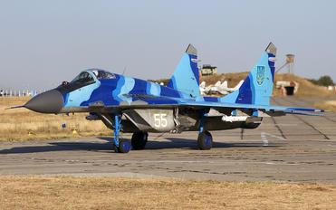 55 WHITE - Ukraine - Air Force Mikoyan-Gurevich MiG-29