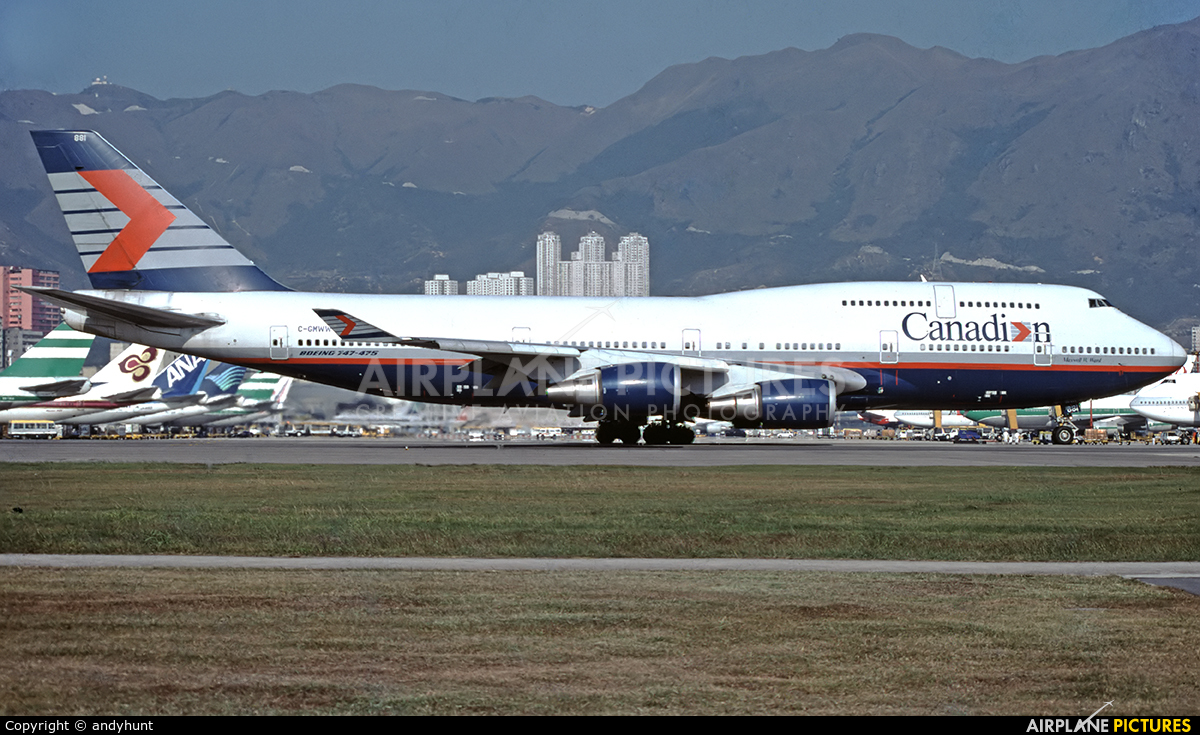 Canadian Airlines International C-GMWW aircraft at HKG - Kai Tak Intl CLOSED