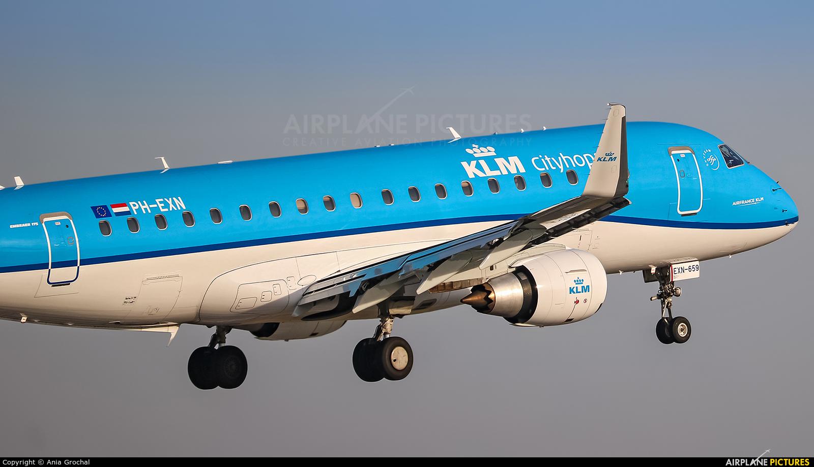 KLM Cityhopper PH-EXN aircraft at Warsaw - Frederic Chopin