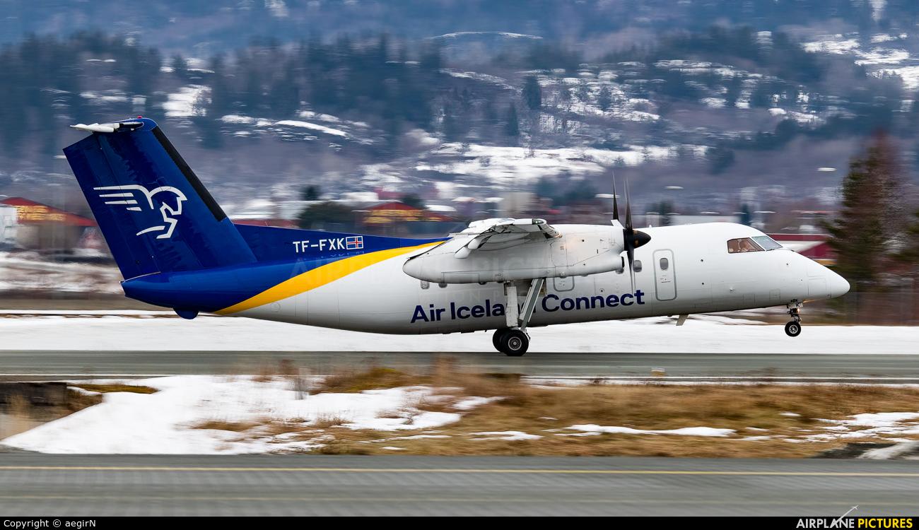 Air Iceland TF-FXK aircraft at Trondheim - Vaernes