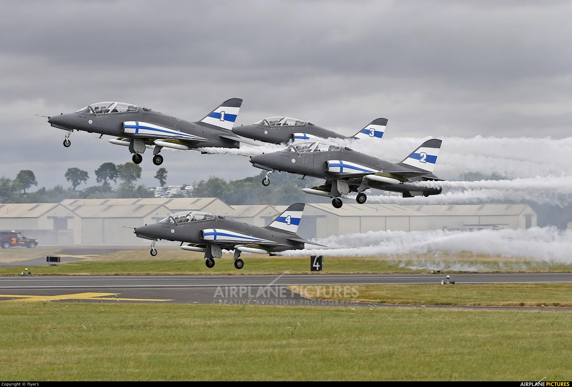 Finland - Air Force: Midnight Hawks HW-340 aircraft at Fairford