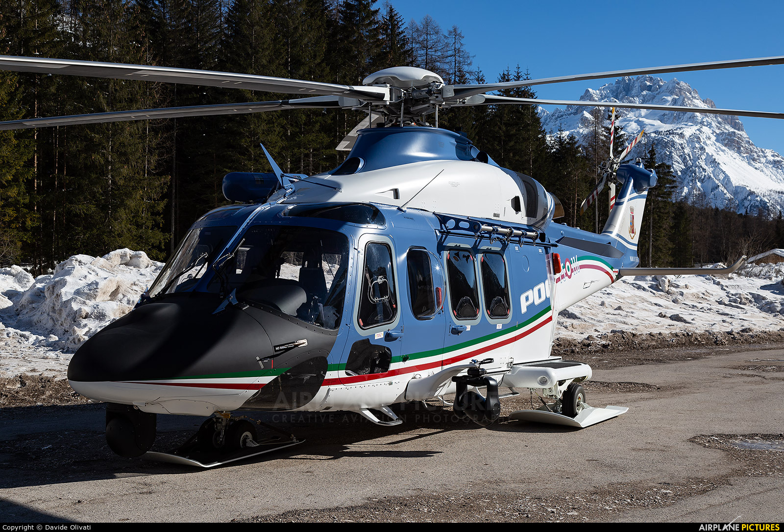Italy - Police MM81978 aircraft at Off Airport - Italy