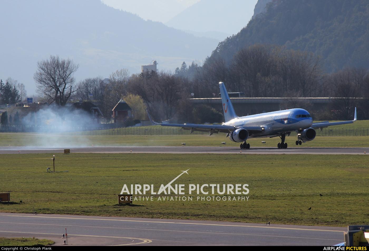 TUI Airways G-OOBF aircraft at Innsbruck