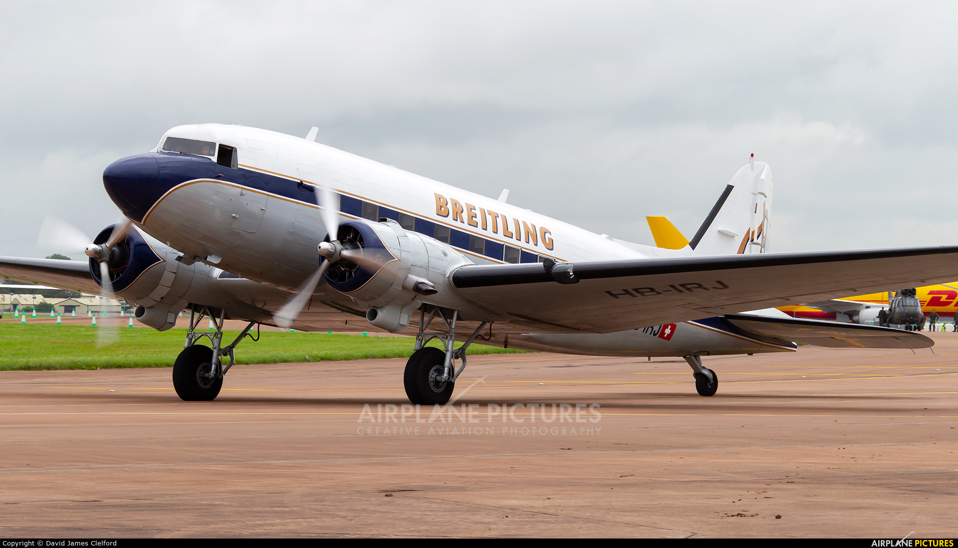 Breitling HB-IRJ aircraft at Fairford