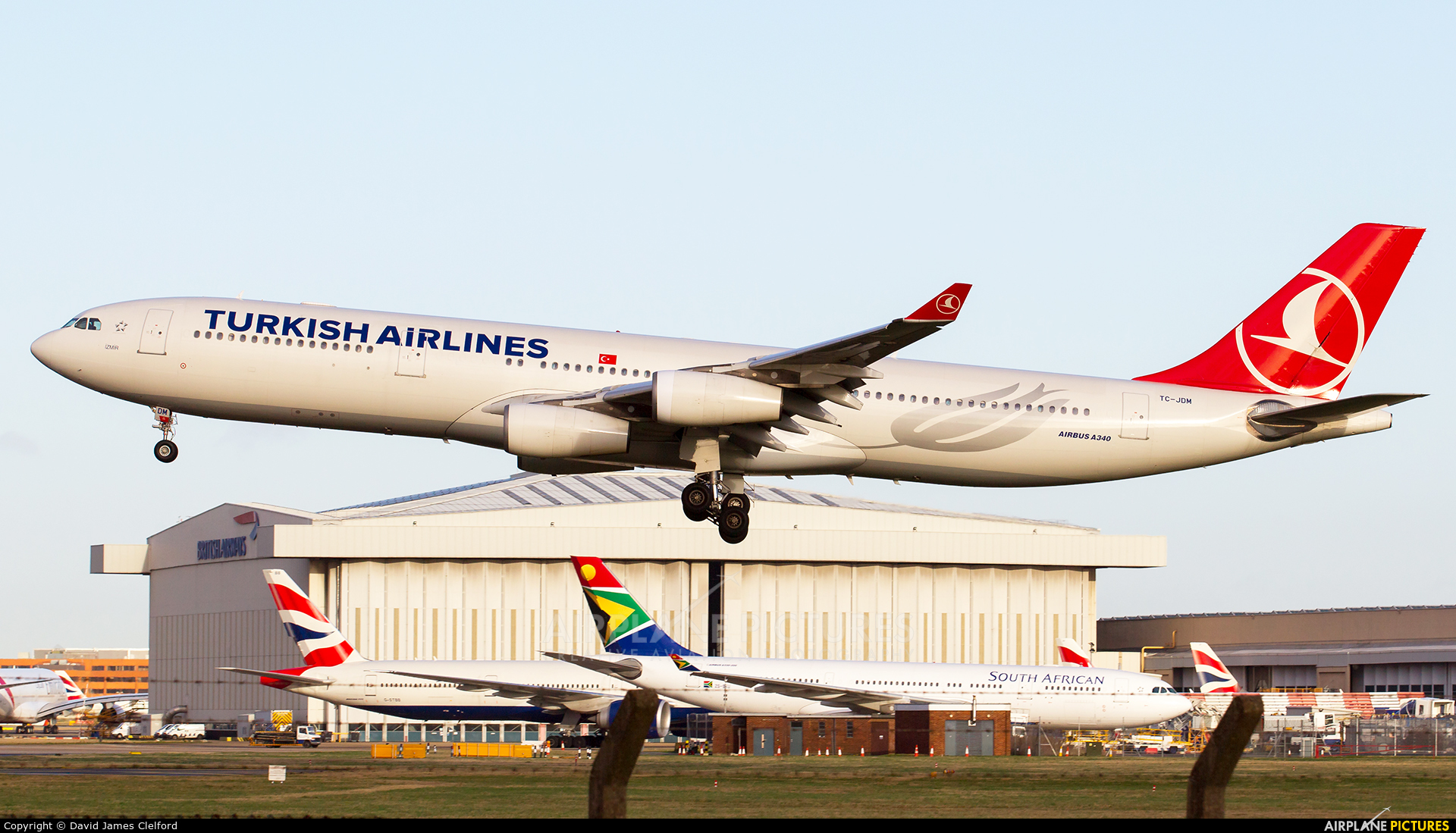 Turkish Airlines TC-JDM aircraft at London - Heathrow