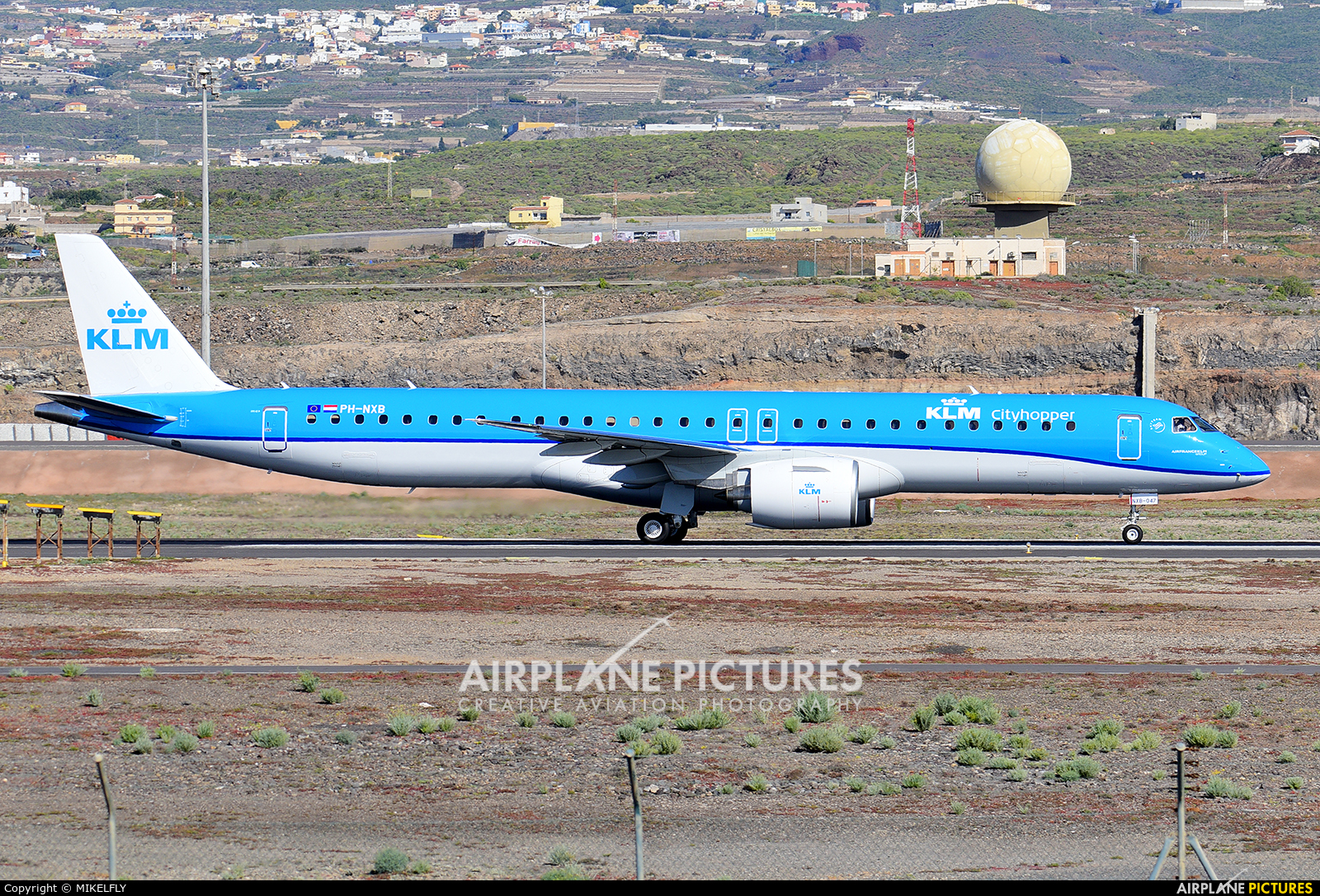 KLM Cityhopper PH-NXB aircraft at Tenerife Sur - Reina Sofia