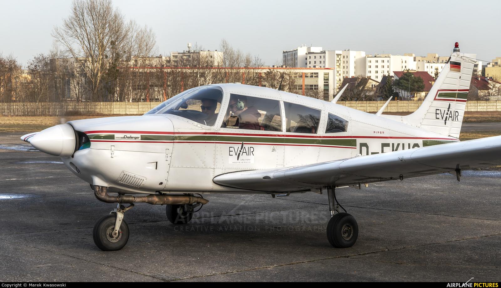 Eva Air D-EKUC aircraft at Warsaw - Babice