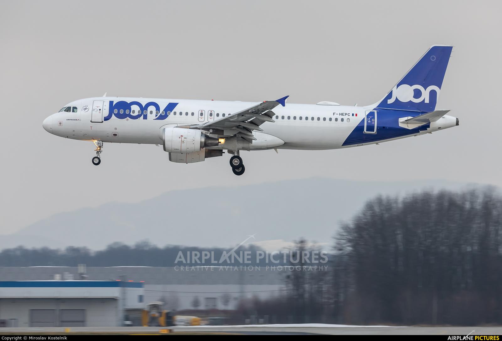 Air France F-HEPC aircraft at Ostrava Mošnov