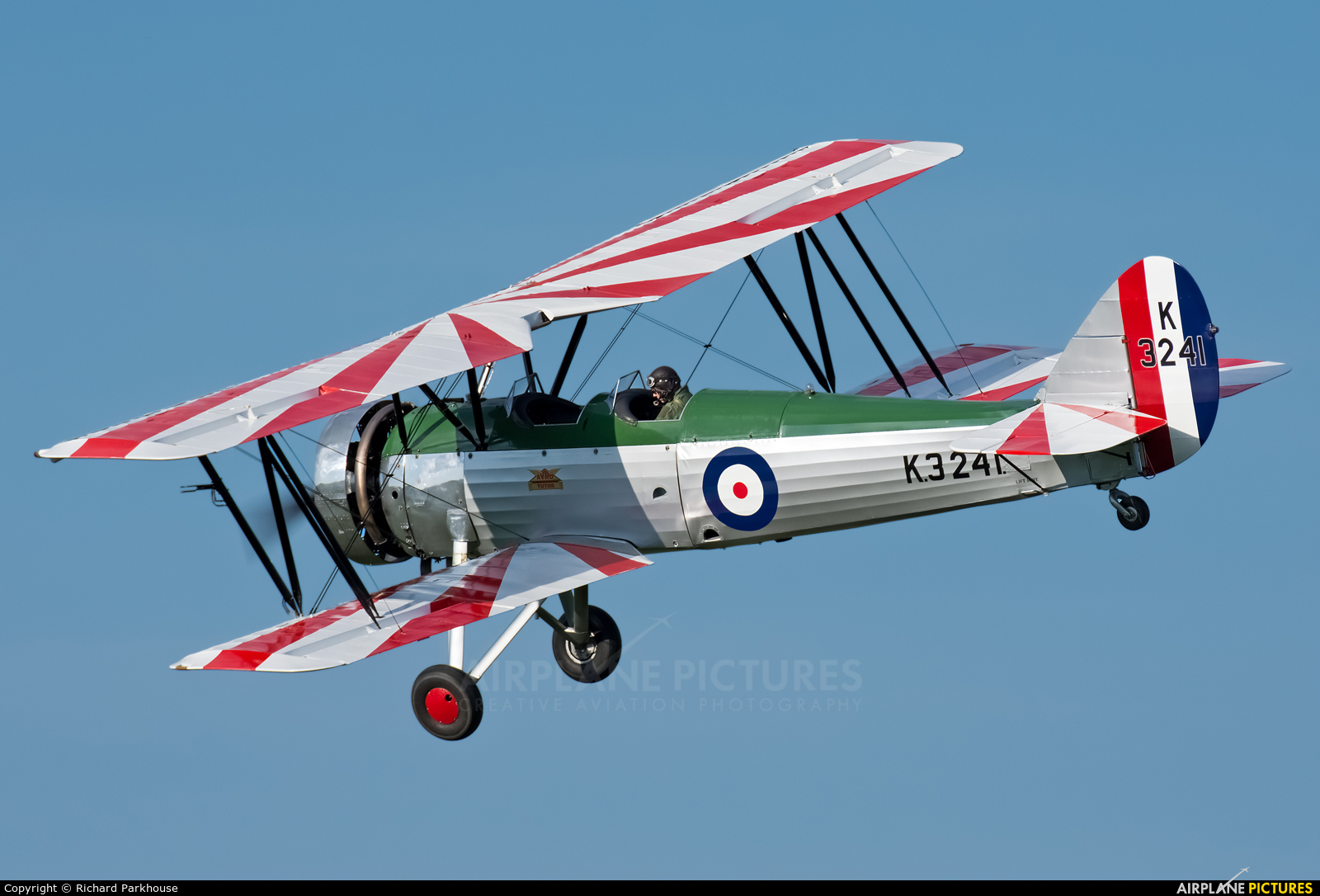 The Shuttleworth Collection G-AHSA aircraft at Old Warden