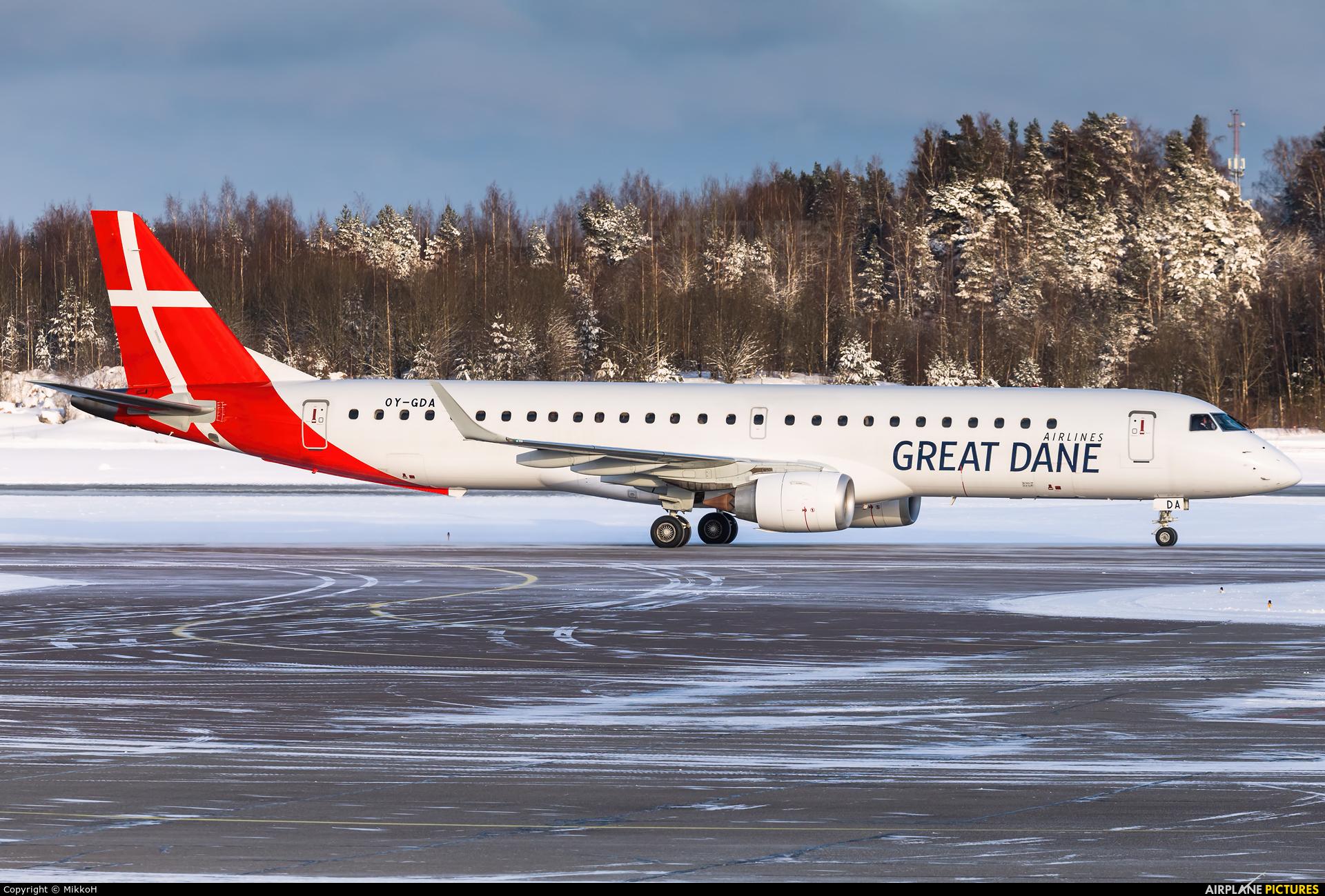 Great Dane Airlines OY-GDA aircraft at Helsinki - Vantaa